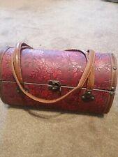 Ladies Vintage Retro Hard Red Designer Handbag