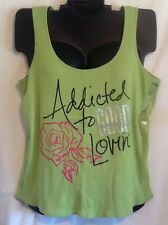 18/20 Cacique Sleep Tank Shirt Green Addicted To Love Plus Size Lane Bryant