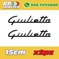 COPPIA ADESIVI ALFA ROMEO sticker GIULIETTA AUTO