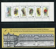 Belgium 1604-1609a booklet, MNH, Insects 1996. Dragonfly, Bee, Beetles.x23964