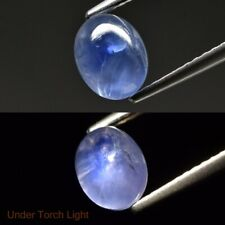 2.46ct 7x5.5mm Oval Cabochon Natural Unheated Blue 6 Ray Star-Sapphire, Ceylon