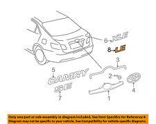 TOYOTA OEM 07-17 Camry Trunk Lid-Emblem Badge Nameplate 7544306180
