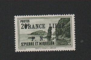 🧐🧐🧐🧐  Timbre Saint-Pierre et Miquelon 20 f N° 273 gomme charnière 🧐🧐🧐🧐🧐