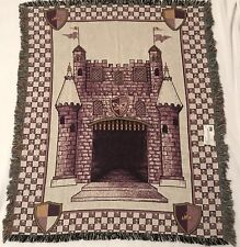 Princess Castle Blanket Woven Tapestry Wall Art Decor Pure Country Weavers USA