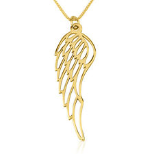 Wing Drop Pendant -24k Gold Plated Cut Out Feathered Wing Necklace - oNecklace ®