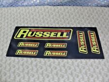 Sticker, Racing, Race Car, RUSSELL, 7 Stickers