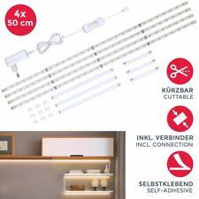 Set LED Band 2m Stripes weiß Deko 4 Streifen TV-Licht Unterbauleuchte +Verbinder