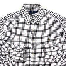 Polo Ralph Lauren Long Sleeve Classic Fit Oxford Shirt Check Mens XL New