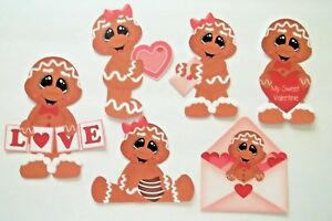 3D- U Pick- Love Valentines Boy Girl Bear Heart Couple Card Paper Embellishment