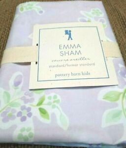 Pottery Barn Kids Emma Standard Pillow Sham 20X27 Lavender Lilac Purple NIP