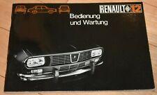 !! Original Betriebsanleitung / Serviceheft Renault 12, 1969, Sprache deutsch !!