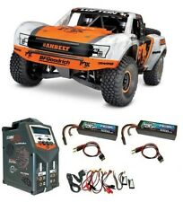 TRAXXAS Unlim. DESERT RACER 4 x 4 TRUCK 4-6s VXL W/Orange 1:7 tqi2.4ghz -- Set Risparmio --