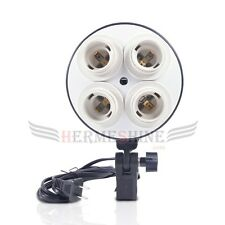 New Studio Photo Video Continuous light lighting 4 Head E27 AC Bulb Socket