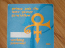 Prince and The Power Generation Backstage pass unused 1990's
