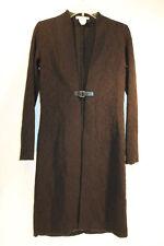 Jacqueline Conoir Women's Black Floral Design 25% Wool Long Dress Top 1111