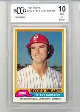 1981 Topps1980 Record Breaker (#202) (Steve Carlton) BCCG10 BCCG