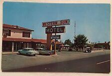 zy921 San Antonio TX Texas Western Sun Motel Roadside America Vintage PC