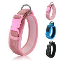 4cm Wide Sequins Dog Collars Comfortable Padded Pet Puppy Necklace Border Collie