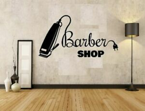 barbers shop clippers sign vinyl wall sticker from small to large
