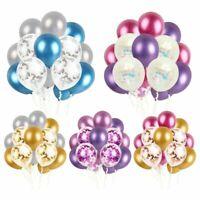 Decor Party Metallic Balloons Happy Birthday Mixed Confetti Pearly Ballon Set