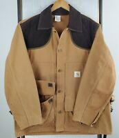 VTG CARHARTT Size XL USA Made Hunting Canvas Duck Corduroy Jacket Game Pouch