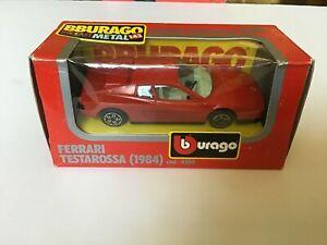 1984 BBURAGO 1/43 Ferrari Testarossa No. 4104 Made In Italy