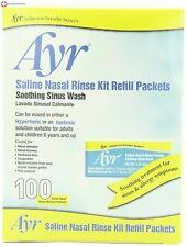 Ayr Saline Nasal Rinse Kit Refill Packets 100 Count Packets