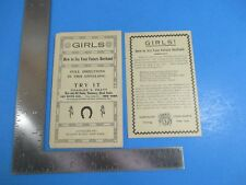 Vintage 1913 Girls How to See Your Future Husband Guide by John Kurtz S4069