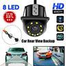 170° HD Car Rear View Backup Reverse Camera 8 LED Night Vision- Waterproof  New