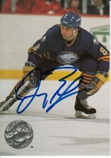 1991 DOUG BODGER #8 Buffalo Sabres Autographed Signed NHL Pro Set Card 12