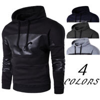 Mens Stylish Hoodie Warm Hooded Sweatshirt Jacket Outwear Sweater Slim Tops Coat