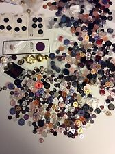LOT of NEW buttons 2 POUNDS 4 OZ. METAL CLOTH ABALONE PLASTIC SAVED 50 YEARS