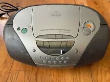Sony Cfd S300 Boombox Radio Cassette Corder Stereo Cd Player Convex Speakers Euc