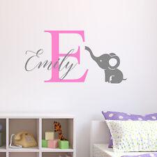 Personalised Elephant Wall Sticker Wall Decal Childrens Kids Nursery Bedroom