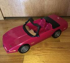 Vintage Mattel Barbie Corvette Convertible Car 1994 Red / Pink