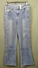 ARIZONA JEANS CO size 16 SLIM embellished denim JEANS flare leg VGUC #1864