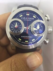 Graham Swordfish Chronograph Mens Automatic Steel Watch No 083