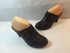 Sofft Clogs Shoes Comfort Brown Leather Croco Womens Size 10 M