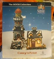 CAROLE TOWNE LEMAX PROCELAIN LIGHTED CHRISTMAS VILLAGE LIGHTHOUSE CASEY'S POINT