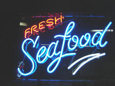 "Fresh Seafood Open Neon Sign 20""x16"" Light Lamp Beer Bar Display Artwork Windows"