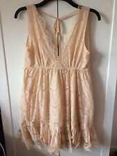 NWOT  Miss Selfridge Peach Lace Dress Size 14