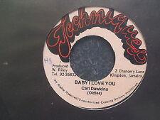 Carl Dawkins - Baby I love you 7'' Single REGGAE - Jamaica Pressing