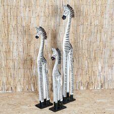 More details for carved wooden fair trade single standing carved wooden zebra - ze-001