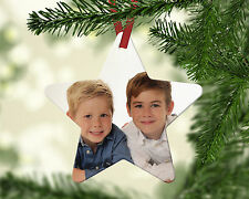 New Personalised Baby Image / Photo Christmas Star Ornament Decoration Gift