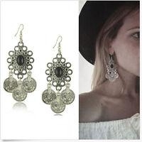 Ethnic Tribal Boho Coin Earrings Dance Bohemian Festival Gypsy Hook Jewelry Gift