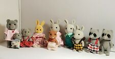 Vintage Sylvanian Families Calico Critters 1985 Lot of 10 Dolls
