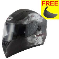 VCAN V128 Rage Skull Monster Full Face DVS Motorbike Helmet ACU & Visor M