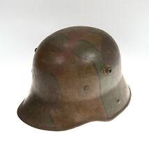 Original Deutsches Kaiserreich Stahlhelm M16 in Mimikri-Tarnanstrich 1.Weltkrieg