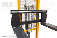 Manual Pallet Lifter  Warehouse  Stacker 1.6m Adjustable Forks Collection only