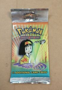 Pokemon Gym Heroes Long Booster Pack Factory Sealed From Freshly Opened Case